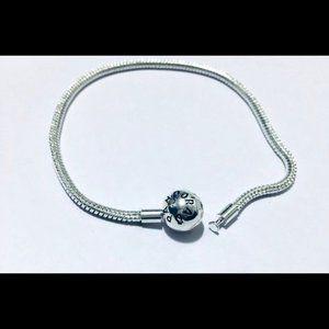 "Pandora Moments Smooth Snake Chain Bracelet 7.9"""